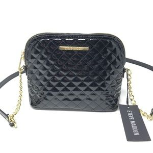 Steve Madden Black Quilted Crossbody NWT $68